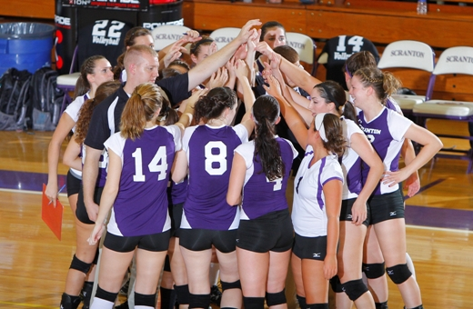 The University of Scranton women's volleyball team opened the season by going 4-0 at the Battlefield Classic at Gettysburg University.