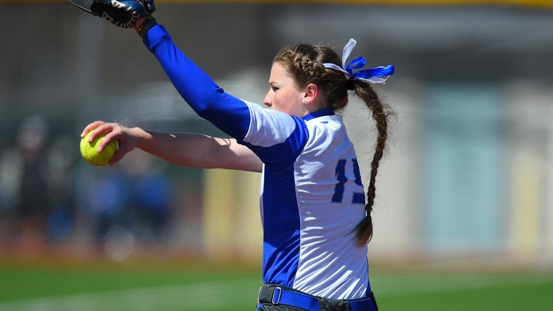 Sargent Throws Shutout, Softball Splits on Sunday