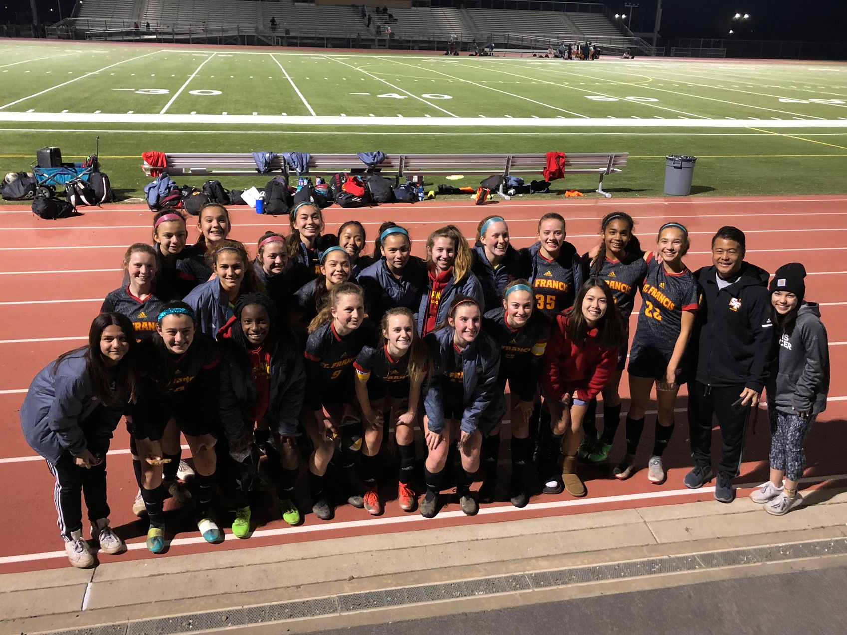 JV Gold Soccer Finishes with Win on Hadid's Two Goals
