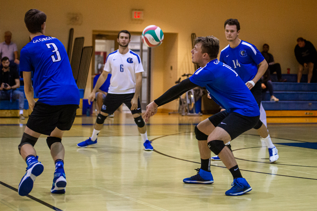 MEN'S VOLLEYBALL SWEEP AT EAST-WEST CHALLENGE