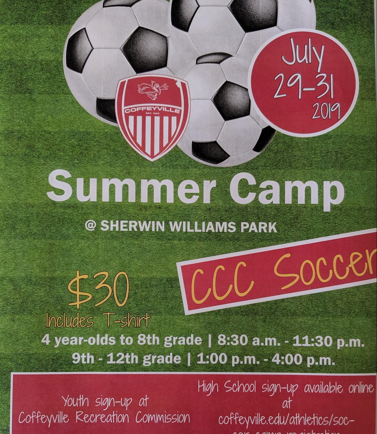 CCC Youth Soccer Camp - July 29-31