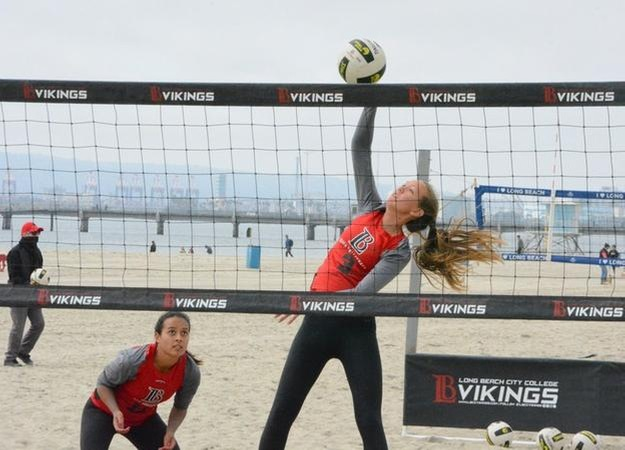 Freshman Isabella Alvarez was perfect in the sand against Mt. SAC and El Camino.