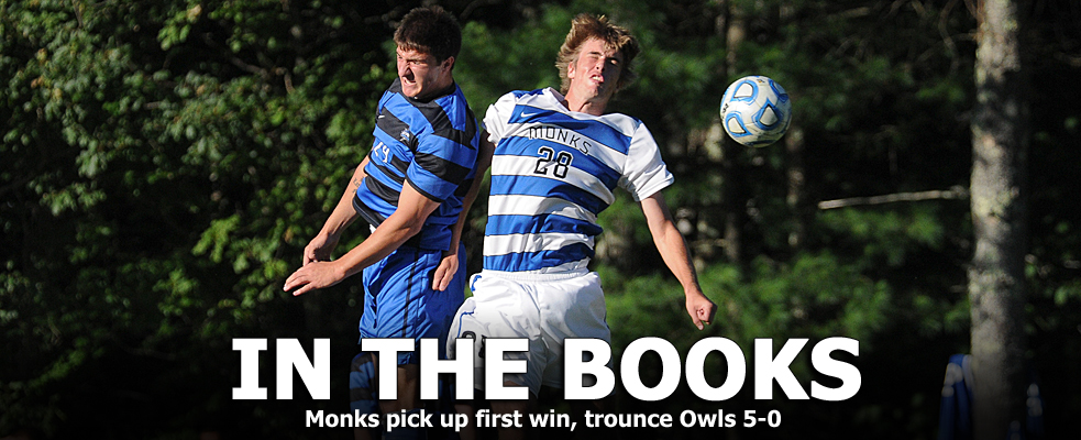 Monks Trounce Owls, 5-0