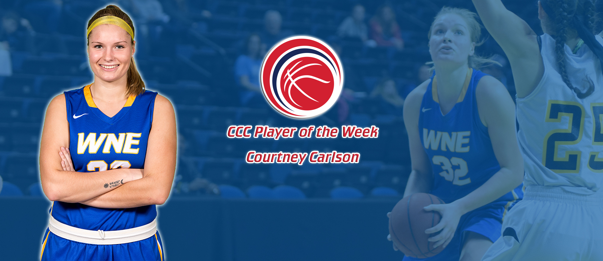 Courtney Carlson Earns First Career CCC Player of the Week Award