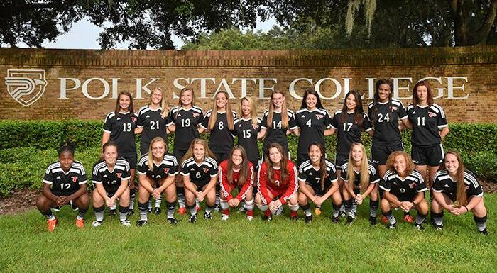 The 2015-16 Eagles soccer team received the National Soccer Coaches Association of America Team Academic Award for exemplary performance in the classroom. (Photo by Tom Hagerty, Polk State.)
