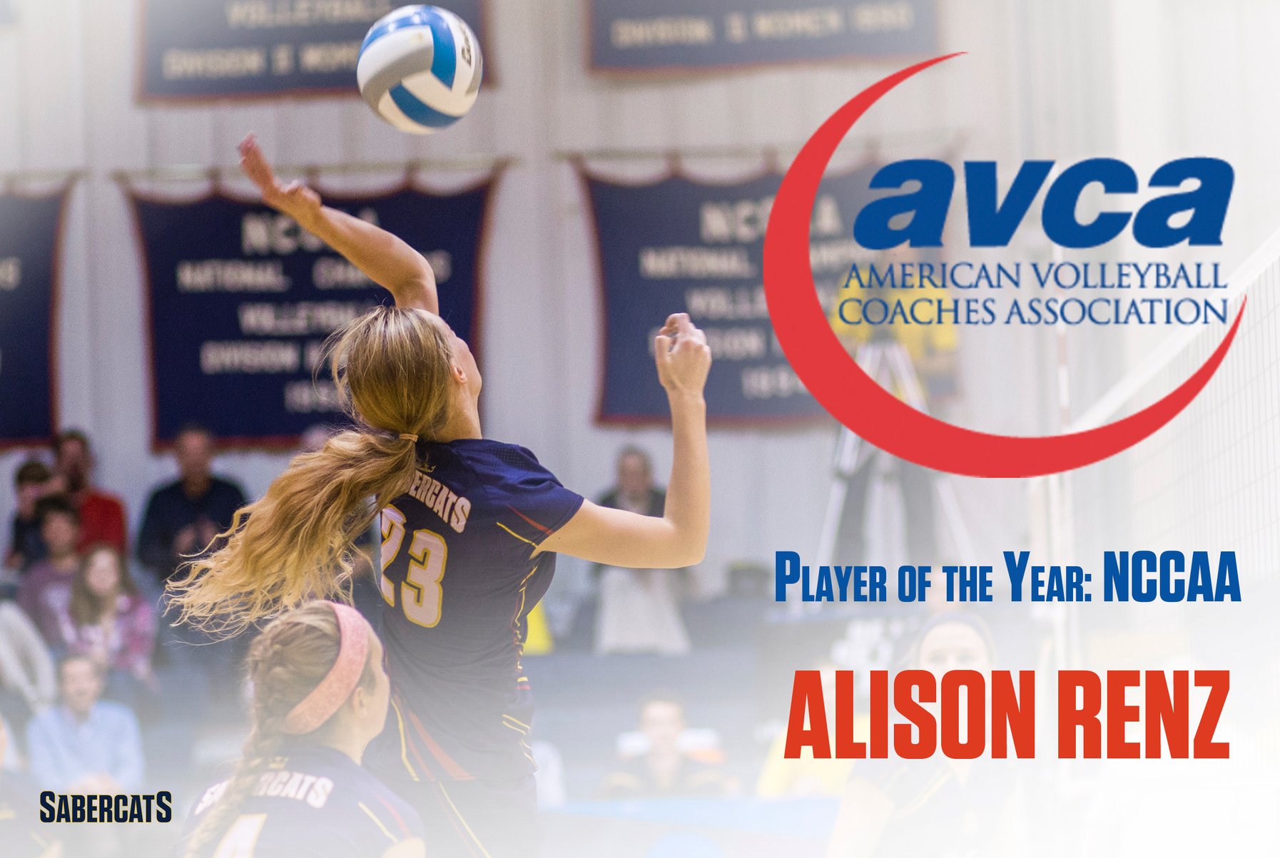 Renz Named AVCA Player of the Year for NCCAA Volleyball