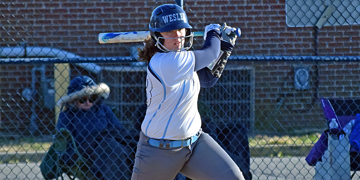 Softball slugs three dingers in doubleheader split with Southern Virginia