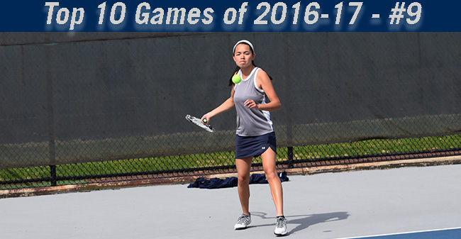 Top 10 Games of 2016-17 - #9 Women's Tennis Defeats Rival Muhlenberg, 5-4, in Final Singles Match
