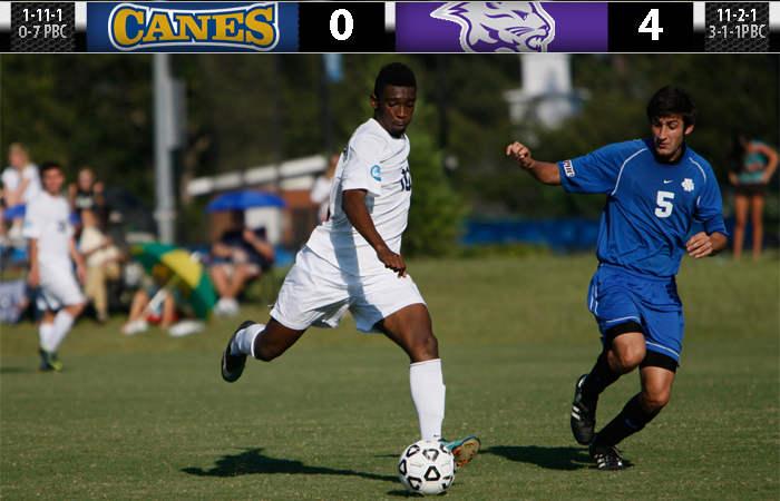 Early Goals Prove Costly, 'Canes Fall to Young Harris, 4-0.
