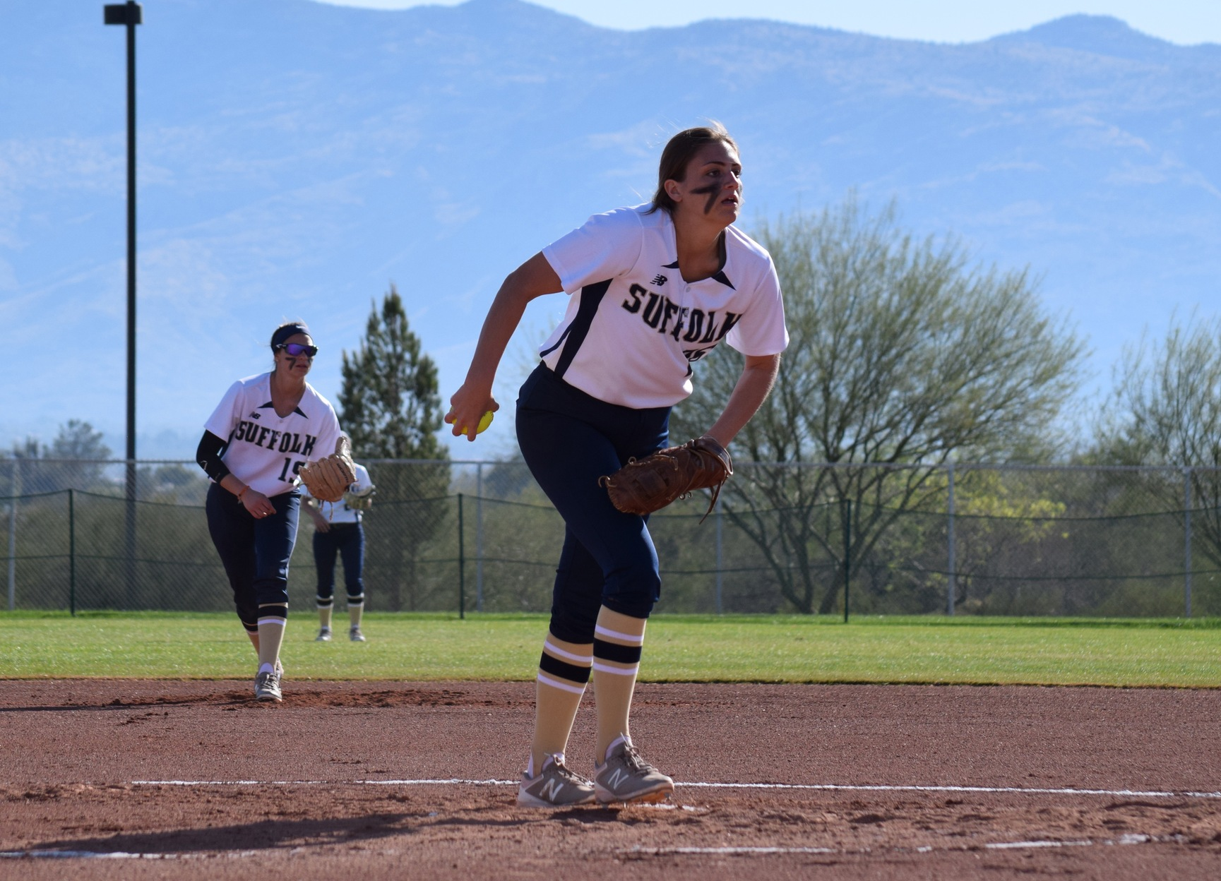 Softball Falls to Emerson, 11-9, in Two Extra Innings, in Game 1