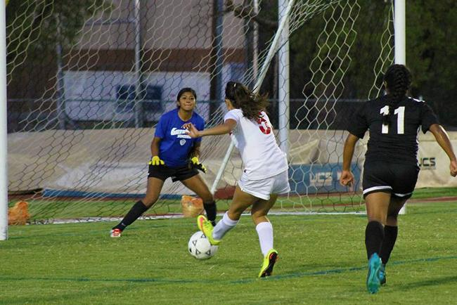 Jenny Montelongo scored two of Mesa's four goals on the night