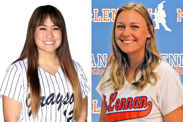 NTJCAC Softball Players of the Week (March 12)