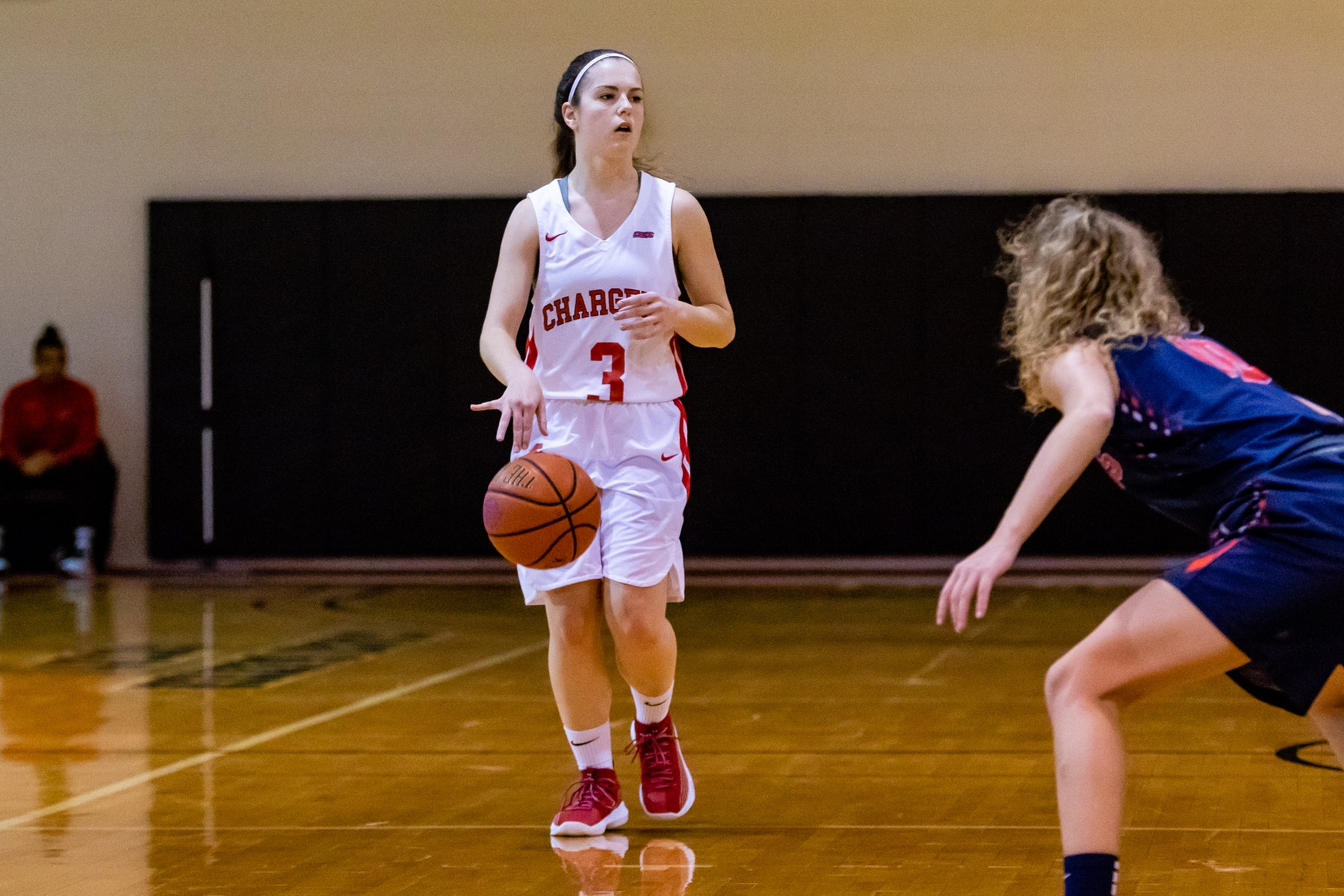 LADY CHARGERS DROP NON-CONFERENCE GAME TO ADELPHI