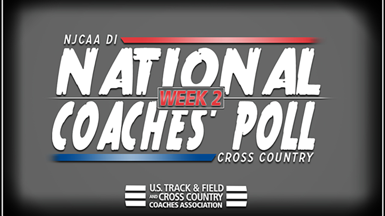 2018 NJCAA DI Cross Country National Coaches' Poll – Week 2