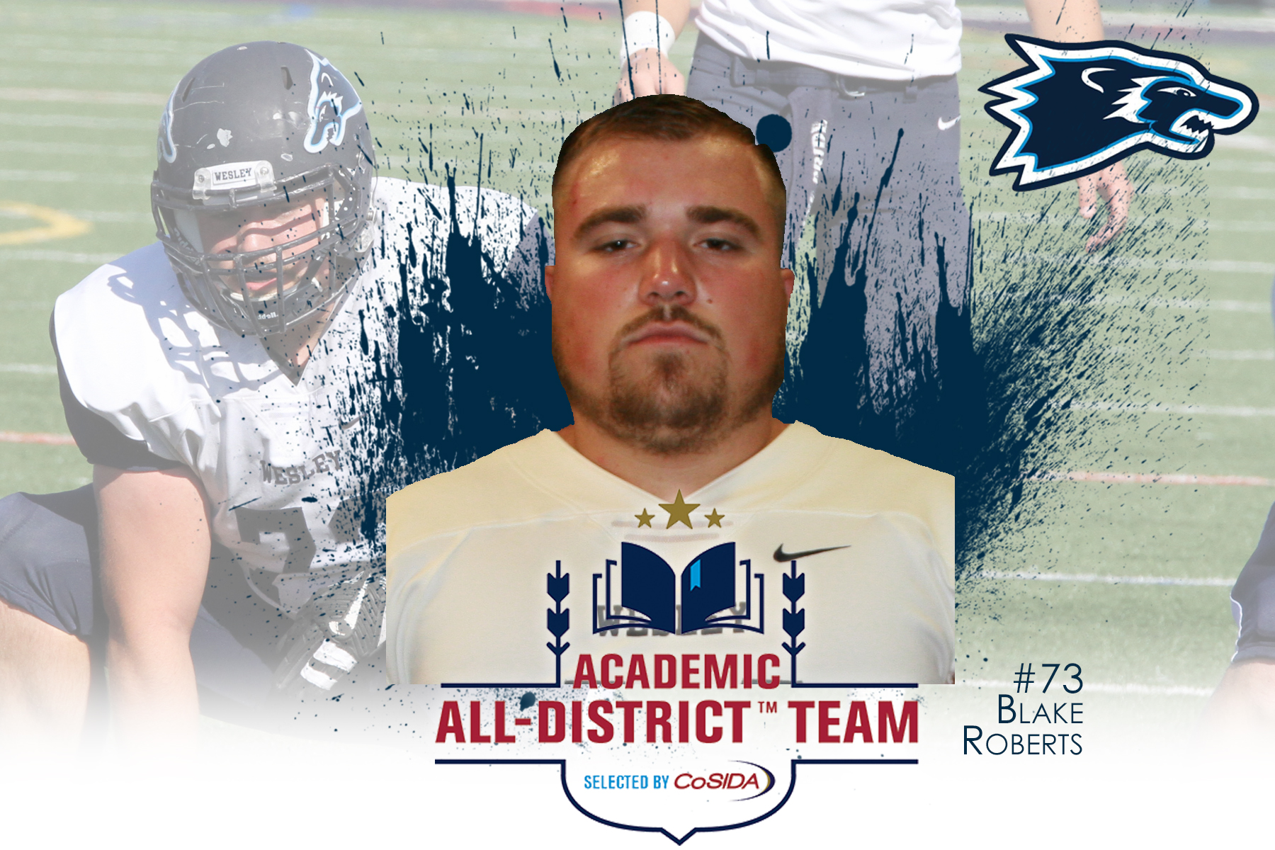 Roberts Named CoSIDA Academic All-District