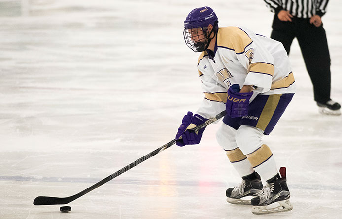 Men's Ice Hockey Falls to Assumption, 4-2, in NE10 Title Game Rematch