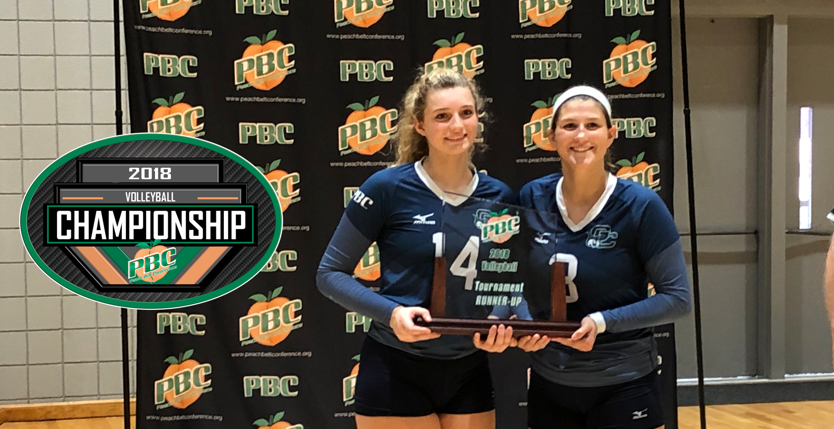 PBC All-Tournament honorees Libby Bochniak and Kayla Brockway
