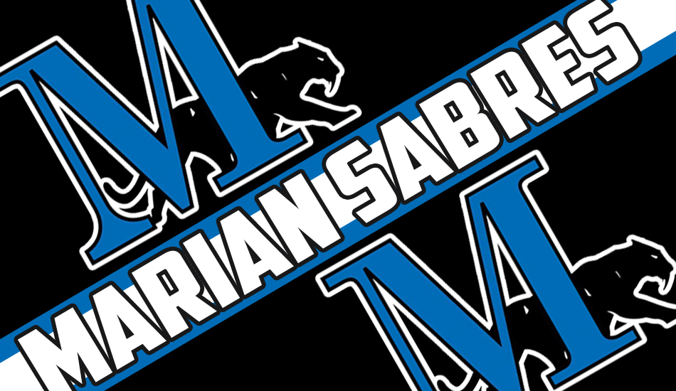 Marian athletics graphic.