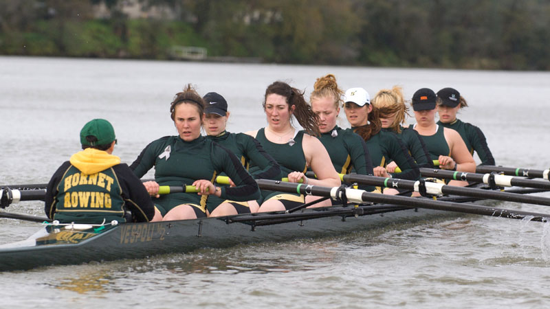 ROWING VICTORIOUS IN ALL FOUR RACES AGAINST SAN DIEGO STATE