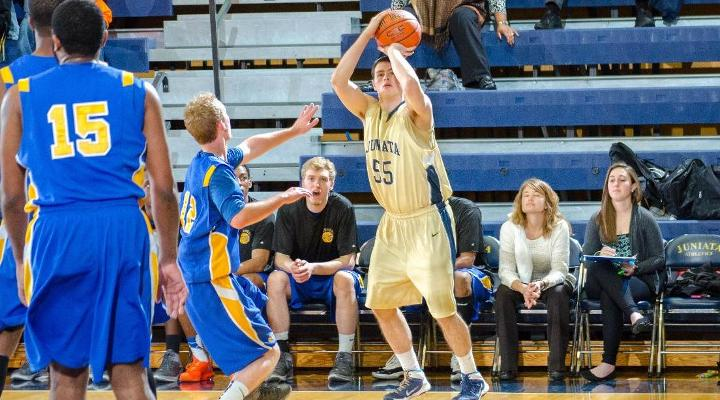 Second Half Comeback Spurs Men's Basketball to 71-55 Win over Allegheny