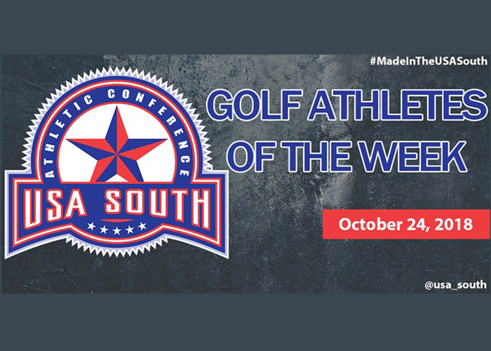 Mathers earns USA South Golfer of the Week recognition