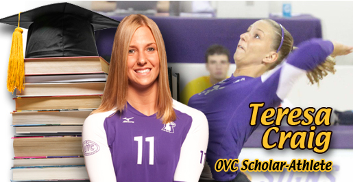 Teresa Craig named as one of six OVC Scholar-Athletes