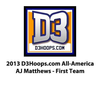 Matthews Named D3hoops.com All-American