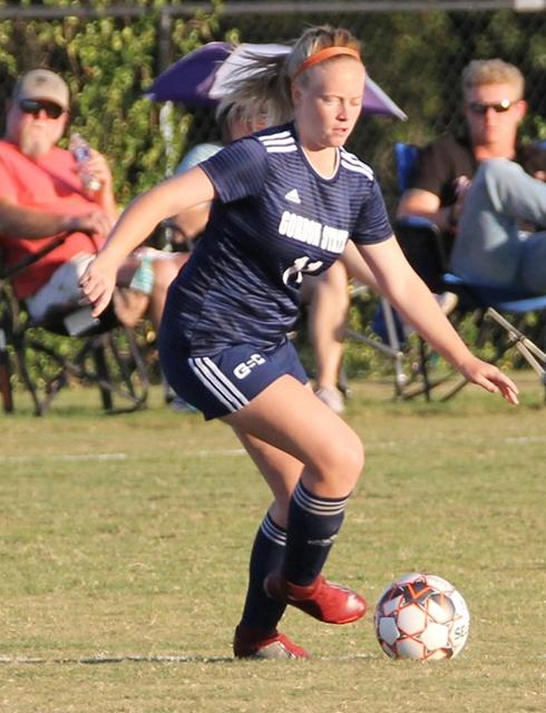 Midfielder Morgan Gramling starts a Highlander attack