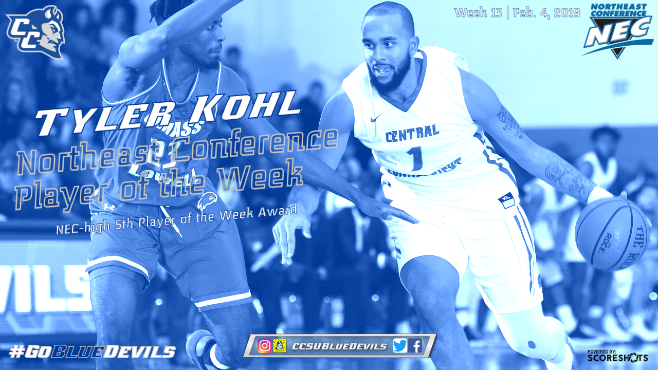 Kohl Collects Northeast Conference Basketball Weekly Honor