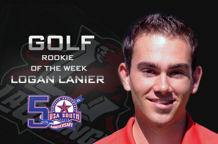Golf: Lanier selected as USA South Golf Rookie of the Week