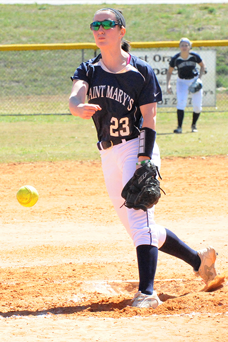 Morgan Raymer, Saint Mary's, Softball Pitcher of the Week 4/3/17