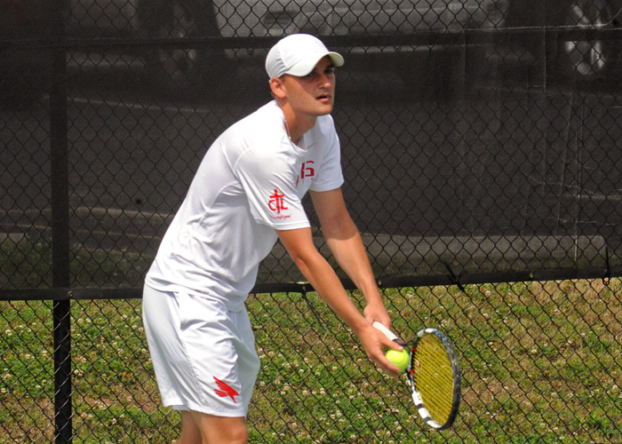 Justin McQueen won at No. 4 singles and teamed with Aaron Triplett to win at No. 2 doubles in Sunday's loss to Piedmont.
