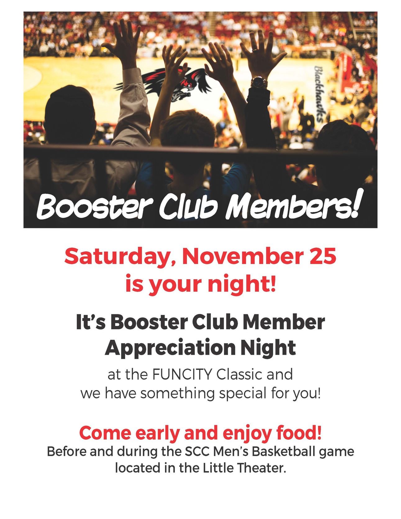 Booster Club Night for the Blackhawks