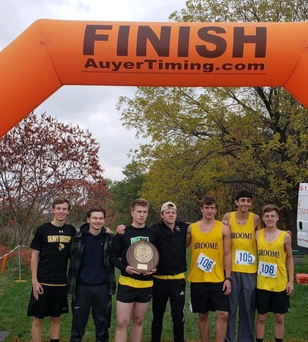 XC team at finish line