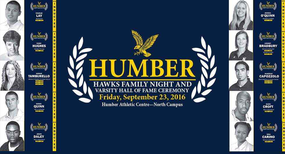 TEN NEW INDUCTEES FOR HUMBER VARSITY HALL OF FAME