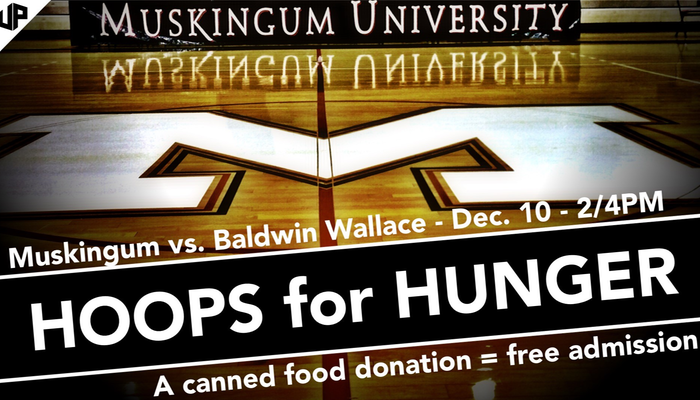 Muskingum to host Hoops for Hunger Food Drive