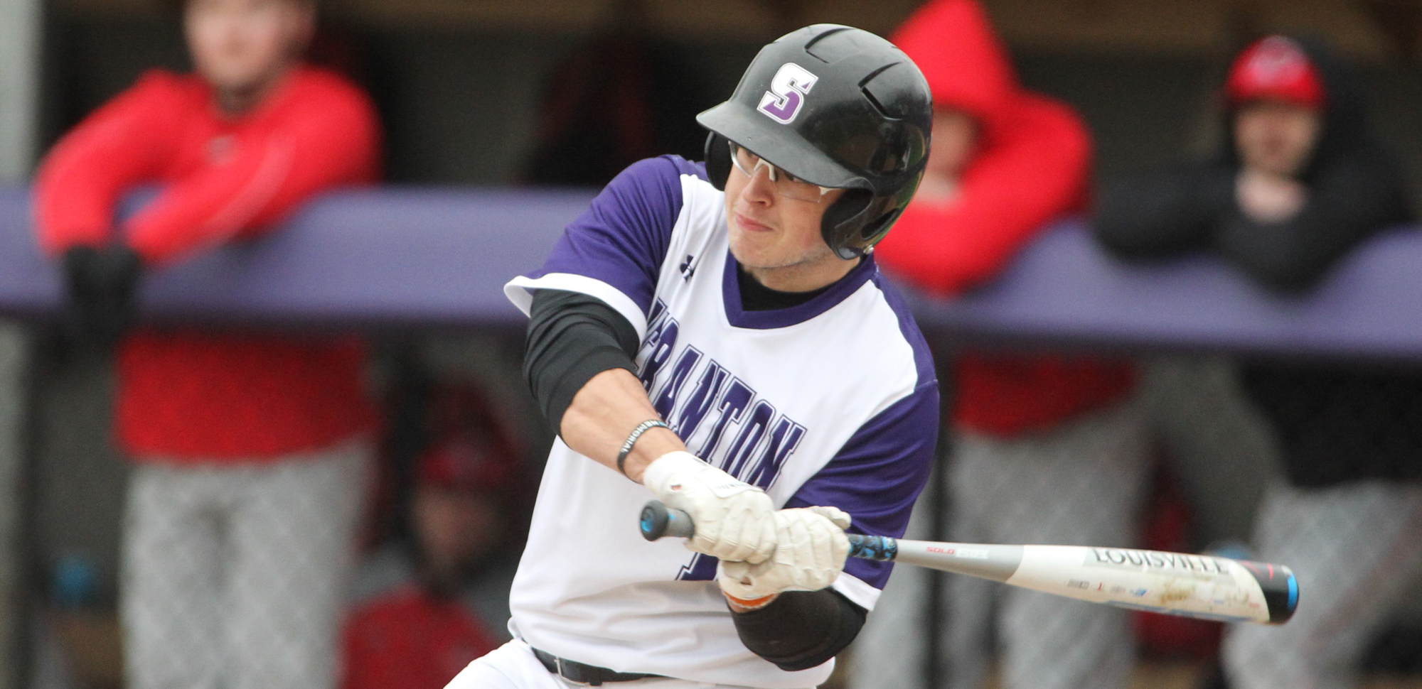 Junior Kevin Haag went 3-for-6 with two doubles and four RBI in Scranton's loss to Montclair State on Sunday. © Photo by Timothy R. Dougherty / doubleeaglephotography.com