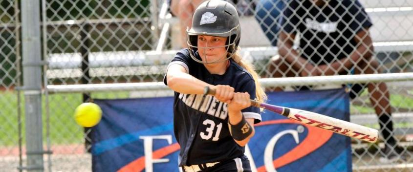Softball splits on second day of UAA tournament