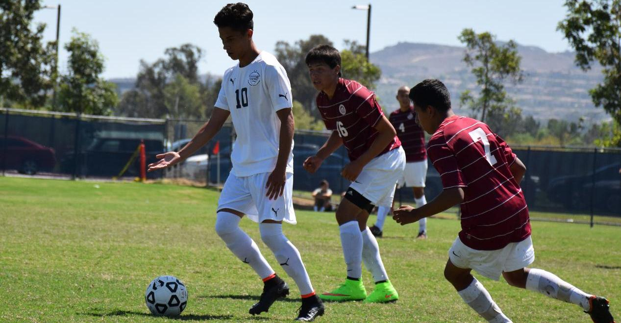 Men's soccer team shuts out Norco for first conference win