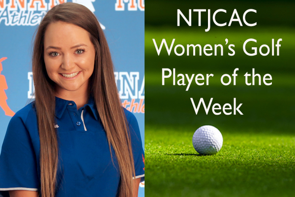 NTJCAC Women's Golfer of the Week (Sept. 10-16)