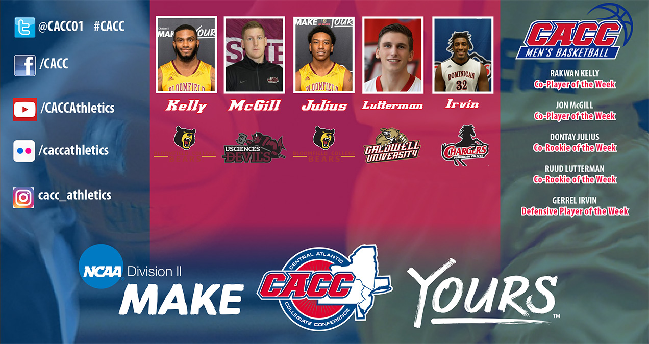 CACC Men's Basketball Weekly Report #7 (Jan. 3, 2017)