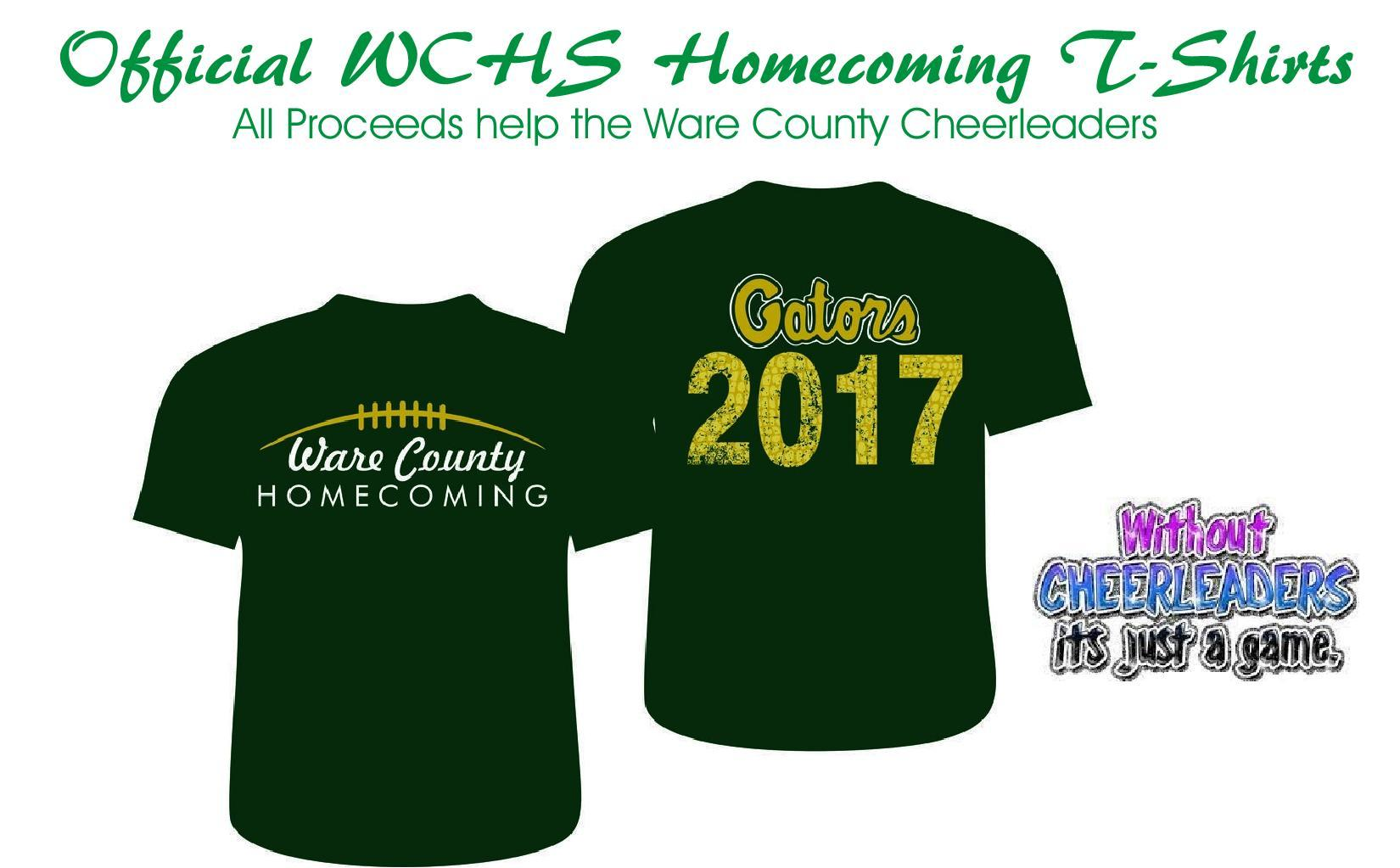 Cheerleaders Offering Homecoming T Shirts