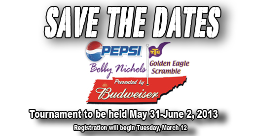 SAVE THE DATES: Bobby Nichols Scramble to be held May 31 - June 2