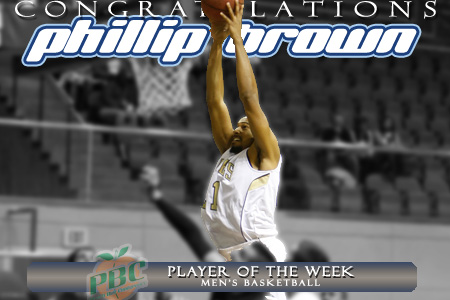 Brown named PBC Player of the Week