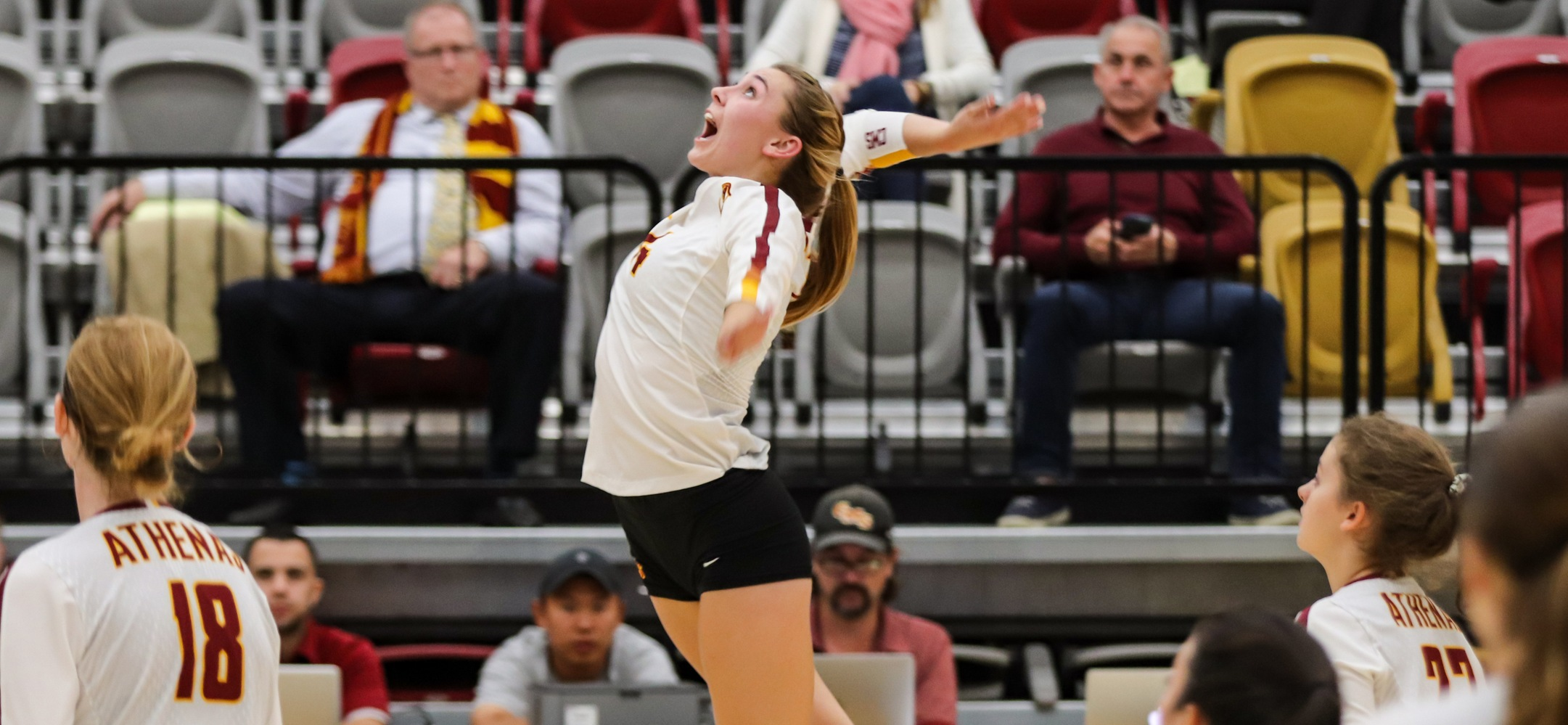 Phoebe Madsen came up one kill sky of a triple-double in a quick 3-0 win over Oxy