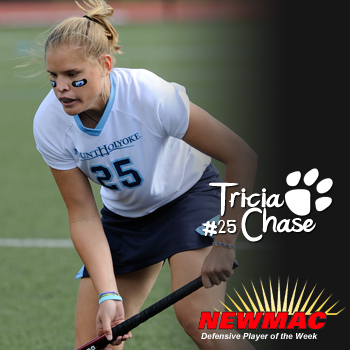 Chase Collects NEWMAC Field Hockey Defensive Player of the Week Accolades