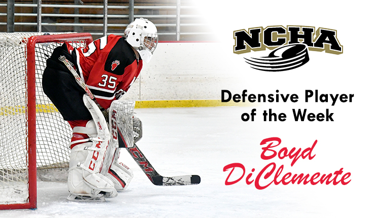 Boyd DiClemente Named NCHA Defensive Player of the Week