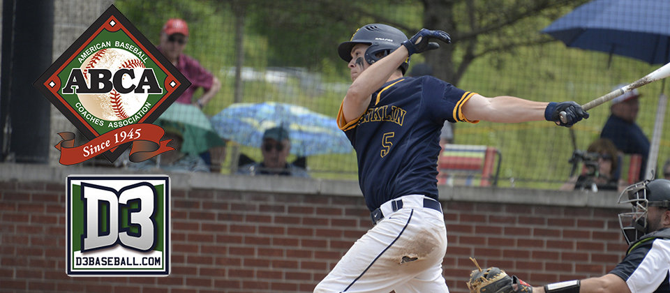 Ryan Bixler Named Third Team All-American by ABCA, D3Baseball