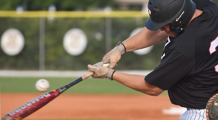Zach Biermann homered and drove in three runs as the Eagles beat Indian River 12-4. (Photo by Tom Hagerty, Polk State.)