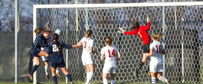 One Step Away! Spital scores twice to lead women past Cortland State